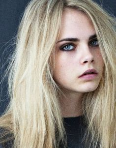 Cara Delevinge, my fav model! She has glorious eyebrows and a certain confidence that I love!