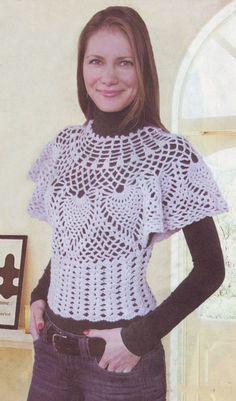 Ideas para el hogar: Blusas geniales en crochet con moldes