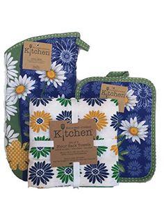 Kay Dee Daisy Dazzle 3pc Flour Sack Set, Oven Mitt, Potholder Bundled Set Kay Dee http://www.amazon.com/dp/B00WTNOEJ4/ref=cm_sw_r_pi_dp_fJcEvb034HTDR