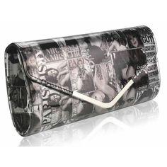 4dad63317c2931 Magazine print clutch bag, extremely fashionable right now this magazine  print clutch bag will make