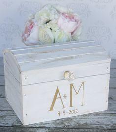 Wedding Card Box Vintage Shabby Chic Wedding Decor by braggingbags