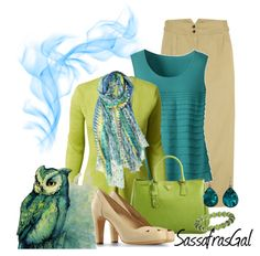 """""""Teal & Lime"""" by sassafrasgal on Polyvore"""