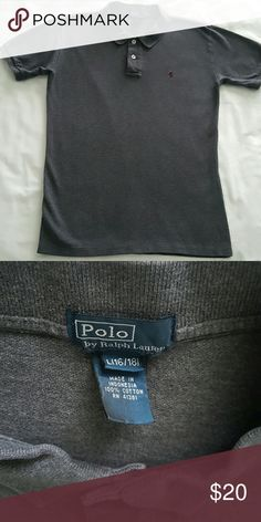Polo by Ralph Lauren grey polo shirt Grey polo  by Ralph Lauren , use never been dryer,  perfect condition Polo by Ralph Lauren Shirts & Tops Polos