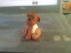 Fondant Dog Figure, via Flickr. Fondant Dog, Fondant Animals, Fondant Toppers, Cupcake Cakes, Cupcakes, Foundant, Paw Patrol Cake, Birthday Parties, Birthday Cakes