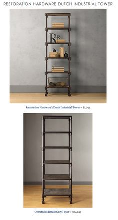 COPY CAT CHIC FIND: Restoration Hardware Dutch Industrial Tower vs. Overstock's Renate Grey Tower