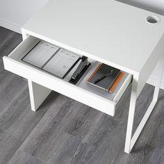 "MICKE Desk, white, 28 3/4x19 5/8"" - IKEA Ikea Micke, Micke Desk, Clever Design, Smart Design, Honeycomb Paper, Ikea Family, Plastic Drawers, Ikea Drawers, Office Home"