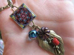 La Tiara Mini Mexican Tile Necklace by FayWestDesigns on Etsy, $21.00