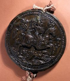 This is the first Great Seal of James I, reverse, 1603- 1605, SC 13/N4.