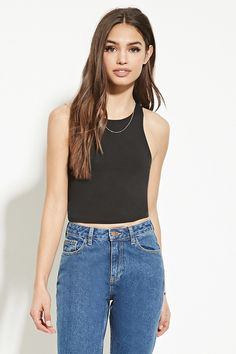 Heathered Knit Crop Top | Forever 21 - 2000167774
