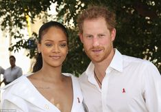 Rihanna and Prince Harry attend the 'Man Aware' event held by the Barbados National HIV/AI...