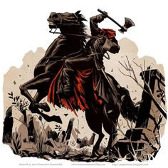 Fashion and Action: The Headless Horseman - Halloween Art Gallery