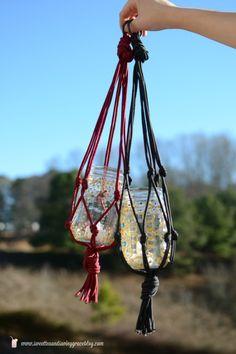 DIY Macrame Boho Candle Lanterns