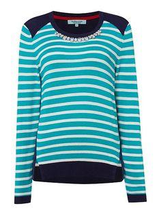Stripe Embellished Jumper
