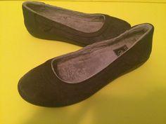 Brown $60 Crocs Berryesa Flat Fleece Lined Women Suede Fashion Shoes Slip On 8 M #Crocs #BalletFlats #Casual