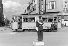 Debrecen traffic, 1948 Great Plains, Light Rail, History Photos, Train Tracks, Vintage Photographs, Old Pictures, Homeland, Historical Photos, Hungary