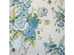 Lee Jofa GRENVILLE GLAZED CHINTZ BLUE/GREEN BFC-3626.53 - Lee Jofa New - New York, NY, BFC-3626.53,Lee Jofa,Print,Light Blue, Light Green, Beige,Blue, Green, Beige,S (Solvent or dry cleaning products),UFAC Class 2,Up The Bolt,USA,Floral Large,Multipurpose,Yes,Lee Jofa, Blithfield,Yes,GRENVILLE GLAZED CHINTZ BLUE/GREEN