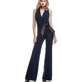 Strikingly sexy sleeveless jumpsuit with flared bottom, in modern cotton jeans fabric, fastened at the waist for just the fashion-inspired detail you were looking for Combi Jean, Jeans Fabric, Bell Bottom Jeans, Jumpsuit, Style Inspiration, Mens Fashion, Boutique, Sexy, Cotton