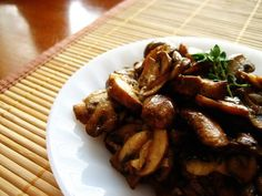 Sauteed Mushrooms!!! (*My favorite herb to add to mushrooms is some julienned Basil, but I'm going to try this with Thyme next time)