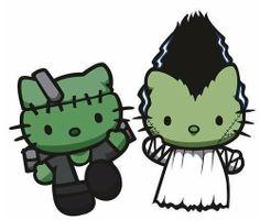 Hello Kitty Frankenstein's Monster and Bride