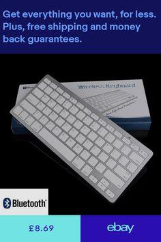 UK Bluetooth Wireless Keyboard Slim for Apple Mac/PC/Tablet iPad iPhone Fashion Pc Computer, Desktop Computers, Laptop Computers, Keyboard With Touchpad, Mini Keyboard, Apple Os, Apple Ipad, 4g Wireless, Bluetooth Keyboard