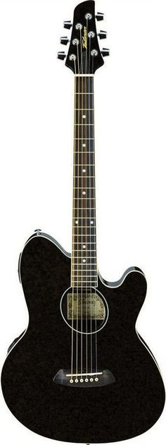 Ibanez TCY10E BK Talman Double-Cutaway Acoustic-Electric Guitar   Black