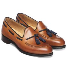 Cheaney Lorraine Ladies Loafer in Chestnut Calf Leather