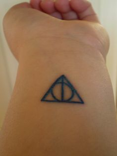 If I ever get a tattoo this will be one :) just in a different spot :) I have to carry the deathly hallows around with me!