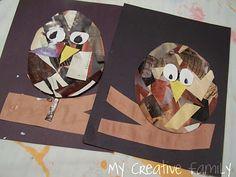 Collage Owls ~ Creative Family Fun