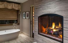 Couples Treatment Suite with see-thru fireplace | Salamander Resort & Spa