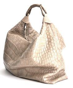 9dd6a2a919f27 Oatmeal Matte Alligator Knox by Alexandra Knight One Bag