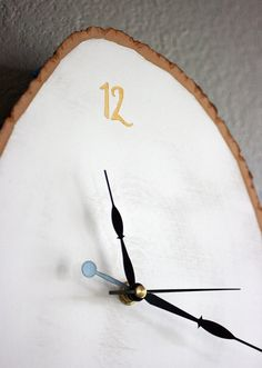 Wood Slab Clock :: On the wall