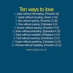 Ten verses about love