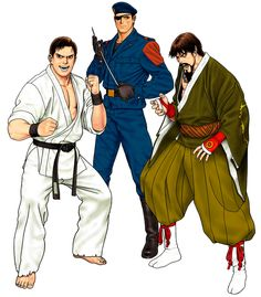 View an image titled 'Oyaji Team Art' in our The King of Fighters Ultimate Match art gallery featuring official character designs, concept art, and promo pictures. King Of Fighters, Art Of Fighting, Fighting Games, Game Character Design, Character Concept, Street Fighter Ryu, Samurai, Hero World, We The Kings