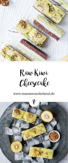 Healthy Raw Kiwi Cheesecake • from Maras Wunderland