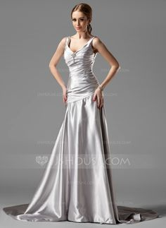 Kind of loving the true silver sheen thise charmeuse fabric gives. I personally find this dress to be perfect for what I want for my bridesmaids but obviously want them to be comfortable with the style as well.