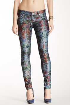 7 For All Mankind Gwenevere Tropical Skinny Jean