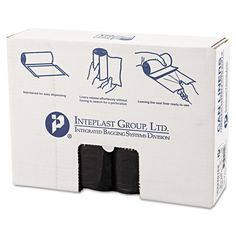 Inteplast Group High-Density Can Liner 33 x 40 33gal 16mic 25/Roll 10 Rolls/Carton