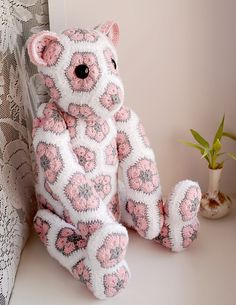 Ravelry: Project Gallery for Lollo the African Flower Bear pattern by Heidi Bears