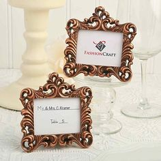 Baroque-style, retro, and classic, this vintage frame get all the style in one. With antique copper coloring detail and baroque styling, this vintage baroque-style frame favor from fashioncraft makes. Vintage Wedding Favors, Wedding Party Favors, Wedding Decorations, Wedding Ideas, Wedding Planning, Wedding Reception, Wedding Inspiration, 1920s Wedding, 50th Party