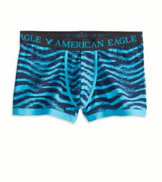 American Eagle Blue Animal Print Boxer Brief