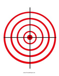 Classic concentric red circles on this target give shooting enthusiasts a way to grade their accuracy. This target is ideal for people working on improving their aim. Free to download and print
