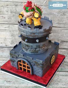 Twin Birthday Parties, Ninja Birthday, Super Mario Birthday, Mario Birthday Party, Themed Birthday Cakes, Fourth Birthday, Mario Party, Birthday Party Themes, Super Mario Cake