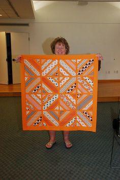 Southern Connecticut Modern Quilt Guild: Hadley Challenge Spotlight: Terrie Harper LangerPAPER PIECED 8in BLOCKS!!!