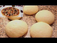 إليك سر تحضير عجينة البيتزا بطريقة المحترفيين الناجحة ستغنيك عن كل الطرق/ تحضير بيتزا - YouTube Hamburger, Food And Drink, Eggs, Bread, Breakfast, Youtube, Kitchens, Morning Coffee, Brot