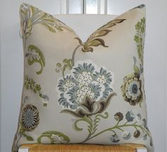 BOTH SIDES  KRAVET  Decorative Pillow Cover by TurquoiseTumbleweed, $48.00