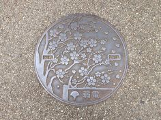 The manhole covers in Ueno Park, Tokyo