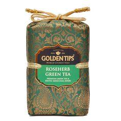 Roseherb Green Tea - Royal Brocade Cloth Bag