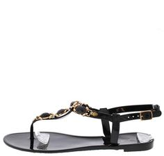 GETTY06B BLACK GEMSTONE THONG JELLY FASHION SANDALS ONLY $10.88. All women's shoes, heels, wedges, sandals, and flats are $10.88 a pair.