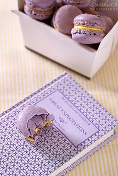 Lavender macarons with lemon cream cheese filling by Irina Kupenska, via Flickr