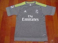 Real Madrid 15/16 Grey Jersey Real Madrid Soccer, Grey, Mens Tops, T Shirt, Football Shirts, Real Madrid Football, Gray, Supreme T Shirt, Tee Shirt